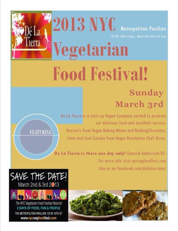 De La Tierra & NothingChocolate at NYC Veg Food Festival